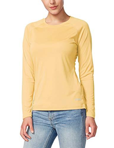 Baleaf Women's UPF 50+ Sun Protection T-Shirt Long Sleeve Outdoor Performance Yellow Size S