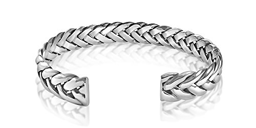 Mens Sterling Silver Bracelet style enlac avec Alfred & Co. Bangle Box