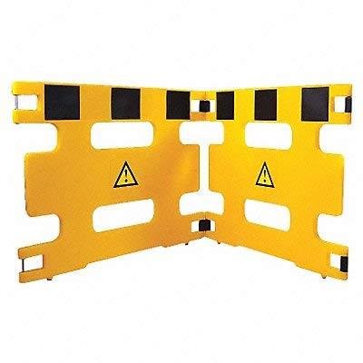 Barricade 2 Panel 72 in Length Yellow