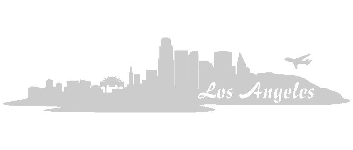 Samunshi® Aufkleber Los Angeles Skyline Autoaufkleber LA in 9 Größen und 25 Farben (180x39cm kupfermetalleffekt) B009EQ3RYW | Niedrige Kosten