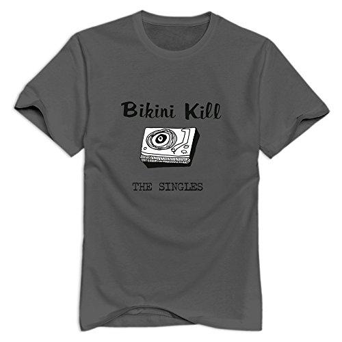 Crystal Men's Bikini Kill Brand Design T-Shirt DeepHeather US Size S