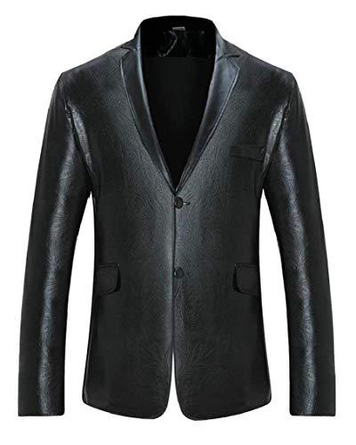 Jacket Manica Slim Blazer Comodo Fit Battercake Schwarz Giacca Elegante Paillettes Da Con Tuxedo Cappotto Sposa Party Uomo Vintage Lunga tOB6w