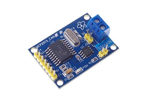 SMAKN MCP2515 Controller Bus Module TJA1050 Receiver SPI Protocol for Arduino SCM 51 ()