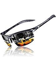 KITHDIA Herren Sport Polarisierte Sonnenbrille Aluminium Magnesium Rahmen S8199 (Gelb)
