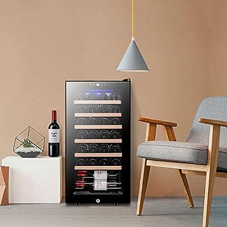 JYXJJKK Vinoteca refrigerada Refrigerador de vino electrónico Temperatura constante Hidratar de vino refrigerador de vino Enfriador de vino Rojo y blanco Vino de almacenamiento frigorífico Cocina fami