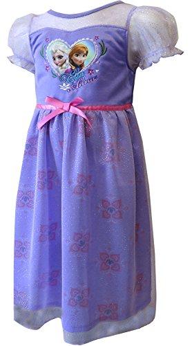Disney Frozen Elsa & Anna Dressy Gown  (Toddler) - Purple-2T (Disney Frozen Gowns)