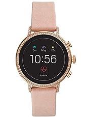 Fossil Gen 4 Q Venture HR Smart Watch Rose Gold/Blush Leather Women's FTW6015