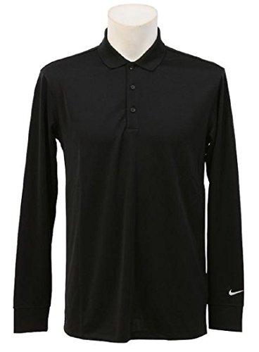 NIKE ナイキ DRI-FIT ビクトリー ゴルフウェア 長袖ポロシャツ Lサイズ(176-183cm) 国内正規品 725515 ブラック
