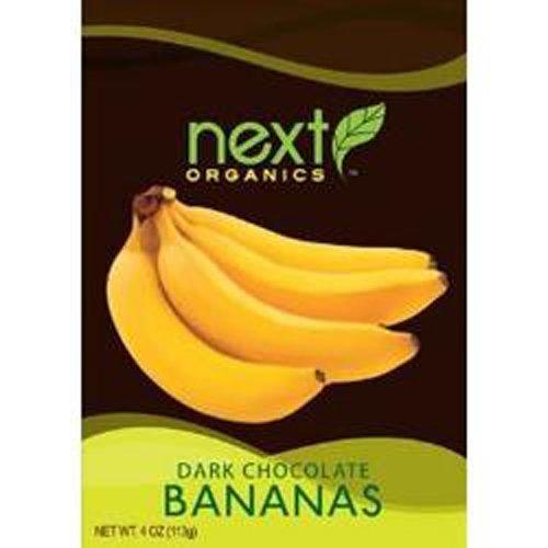 Next Organic Bananas Dark Chocolate Covered, 4-Ounce (Pack of (Chocolate Covered Bananas)