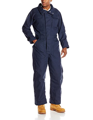 Red Kap Men's Insulated Blended Duck Coverall, Navy Duck, Large