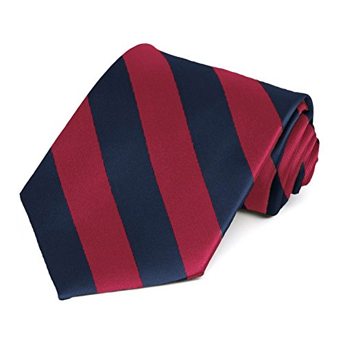 Crimson Red Navy Blue Striped product image