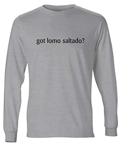 shirtloco Men's Got Lomo Saltado Long Sleeve T-Shirt, Light Steel 2XL