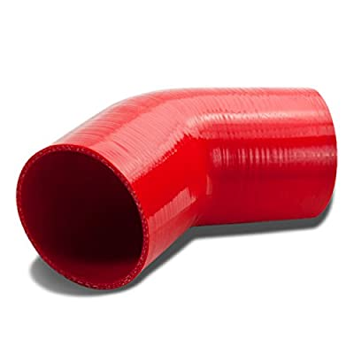 4 inches 45 Degree Elbow Turbo/Intercooler/Intake Piping Coupler Silicone Hose (Red): Automotive