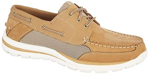 Reel Legends Mens Spinnaker Boat Shoes 11 Light tan