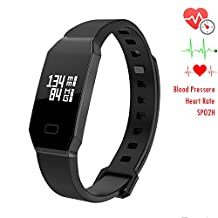 NEWYES NBS07 Blood Pressure Smart Watch Fitness Tracker Men/Women Smart Bracelet with SPO2H Heart rate monitor Sleep Management Pedometer for Android IOS Smartphone