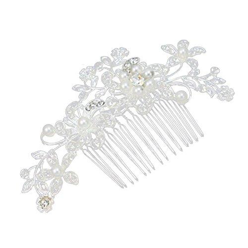 Contever® Joyas Pelo Pasador Tocado para Cabello con Cristales y Perlas  Apropiada para Fiesta de Boda de Novia Dama de Honor  Amazon.es  Belleza 18325e1c9d39