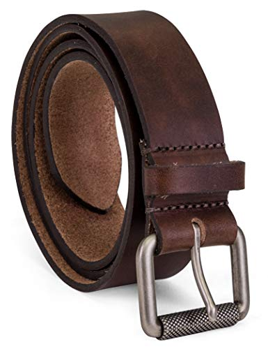 - Colonial Belt Company Men's Made in The USA Casual Leather Jean Belt, Brown/Roller Buckley 34