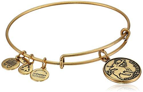 Alex and Ani Sagittarius II Expandable Rafaelian Gold-Tone Wire Bangle ()