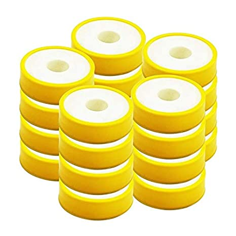 RENVOX Teflon Tape 12mmX0.1mmX10 meter for Pipe Fittings, Plumbing, Aquarium,Washing Machine,Water Tap,Ro Tap to fix Water Leak, (Pack of 20) Water Purifier Accessories at amazon