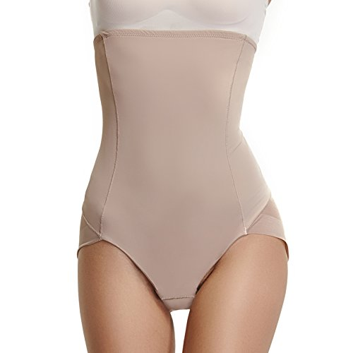 Womens Underwear Briefs Control Panties High Waist Shapewear Body Shaper Postpartum Girdle(Beige,L)