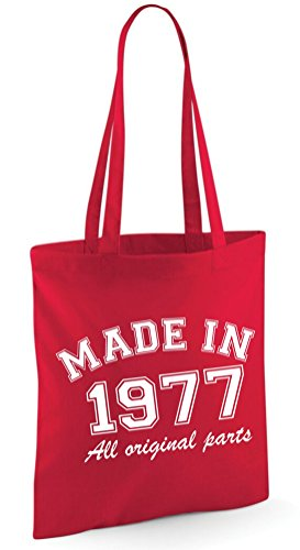 Shoulder Made 1977 in Edward original Red Sinclair Bag Tote Bag All parts xzxrB5pw