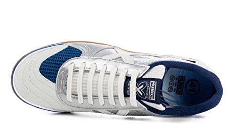 Chaussures de football en salle Munich G-3couleur blanco-plata taille 45