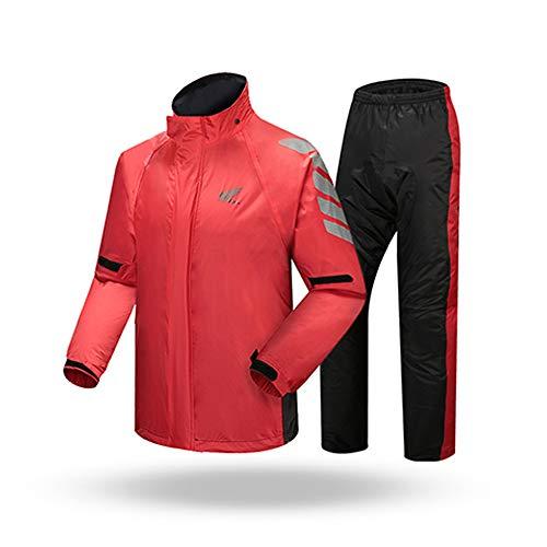 Guyuan Pantalon de Pluie impermable Moto Costume Adulte quitation Portable Split impermable Unique tanche vtements de Protection extrieure (Taille : XXL)