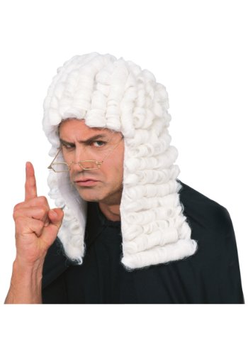 British Explosion Costumes (Rubie's Costume Retro Judge Wig, White, One Size)