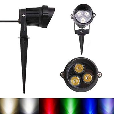 6W LED Flood Spot Lightt With Rod & For Garden Yard IP65 12-24V - Outdoor Lighting LED Flood Lights - 1 x Wall Light