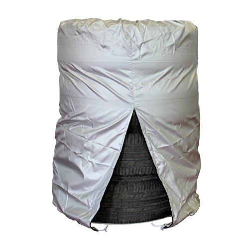 "ABN Car Tire Cover, Medium 25"" x 38"" Inch, 4 Tires Up to 25"" Diameter – Tire Storage Bag Seasonal Spare Snow Tire Bag"
