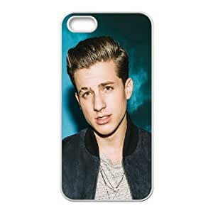 Custom Cover Case Fashion Charlie Puth Time For iPhone 5, 5S SXSWZ948169