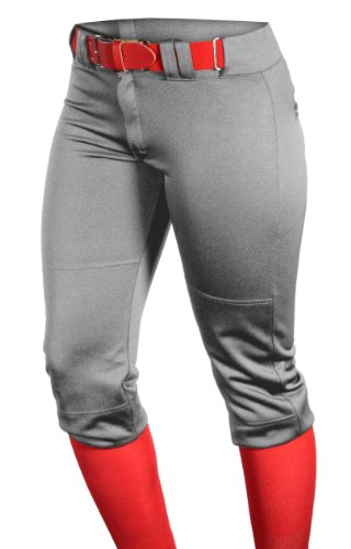 Louisville Slugger Girl's Slugger Fast Pitch OKC Low Rise Pant with Belt Loops