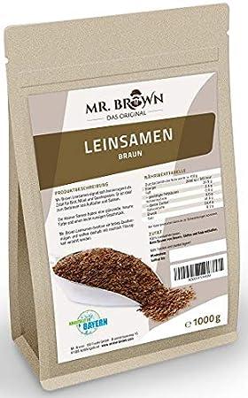 Mister Brown linaza marrón 1 kg, 1000 g | para cocinar y ...
