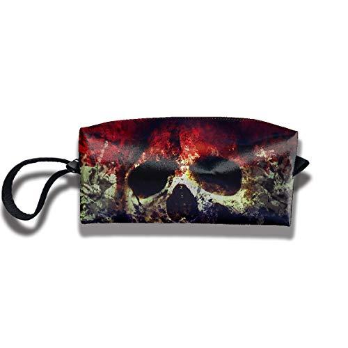 Cosmetic Bags With Zipper Makeup Bag Sugar Skull