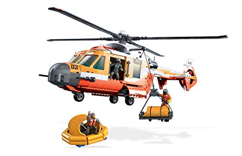 (Mega Contstrux Probuilder Coast Guard Helicopter Resue Playset)