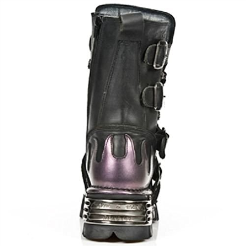 Metal Heavy Rock S5 Flame 591 Gothic Black Leather Purple New Boots Punk Newrock YxqdWdz