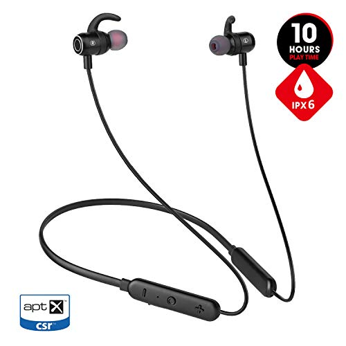 [Newest 2019]Wireless Bluetooth Headphones for Workout Gym Running,10hrs Playtime Neckband Wireless Sport Earbuds,JT SOUND Magnetic Earphones w/Mic,IPX6 Waterproof Headphones for Cell Phones(Upgraded)
