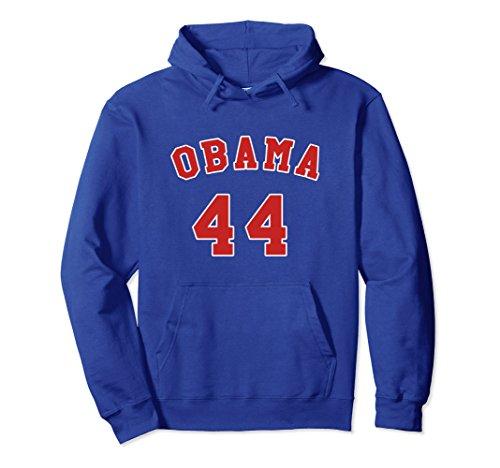 Barack Obama Sweatshirt Hooded (Unisex Obama 44 The 44th President Barack Obama Cool Hoodie Large Royal Blue)