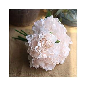 "Artfen 5 Heads Artificial Peony Silk Flower Fake Hydrangea Flowers Home Bridal Wedding Party Festival Bar Decor Approx 7.5"" in Diameter Light Pink 65"