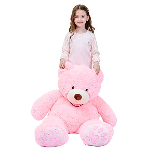 IKASA Giant Teddy Bear Plush Toy Stuffed Animals (Pink, 39 inches)