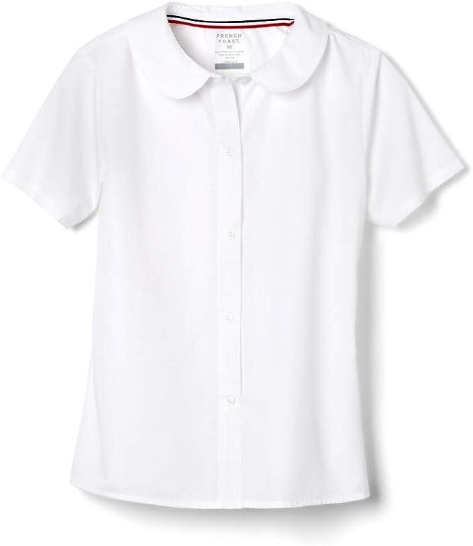 French Toast Girls Long Sleeve Modern Peter Pan Collar Blouse School Uniform Button Down Shirt