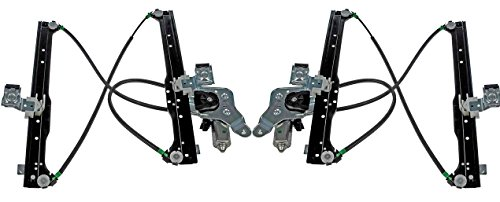 Pair Both Driver - Rear Power Window Regulator with Motor Pair Set Both Driver and Passenger NEW 2001-2006 Chevrolet Silverado GMC Sierra 00-06 Suburban Yukon XL 02-06 Avalanche Escalade EXT ESV GM1551114 GM1550114