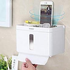 Liushuliang Multifunctional Waterproof Tissue Box Holder Bathroom Toilet Roll Paper Tube Free Punching Towel