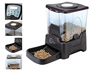 Esky Programmable Large Capacity Automatic Pet Feeder Electronic Portion Size Adjustable Dog Cat Feeder LCD Display