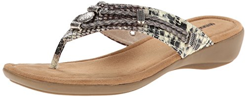 Minnetonka Women's Silverthorne Dress Sandal, Python Man-Made Upper, 7 M ()