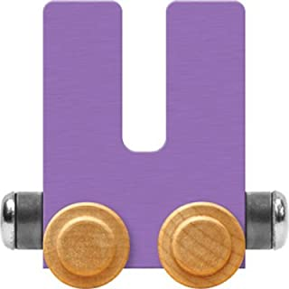 product image for Maple Landmark NameTrain Pastel Letter Car U - Made in USA (Lavender)