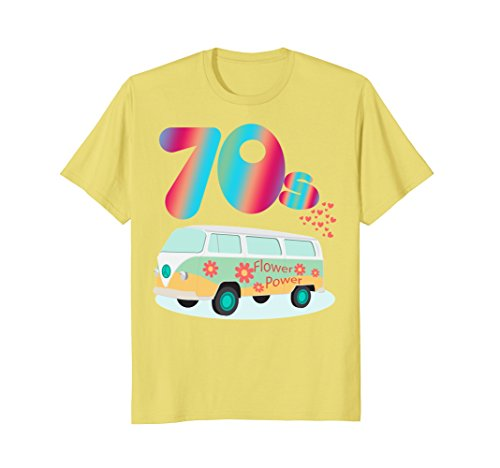 Mens WOMEN CUTE: 70s Hippie Bus Party Shirt Costume Outfit Gift 3XL Lemon ()