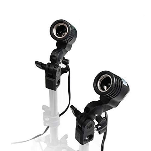 Studio Flash Heads (LimoStudio 2 Pcs Photography Studio AC Socket Light Stand Mount Umbrella Holder, AGG886)