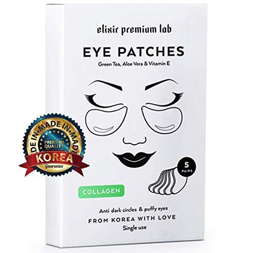 - Collagen Eye Patches - Moisturizing Under Eye Pads - Anti Puffines & Dark Circles Spa Treatment - Best Hydrogel Eye Moisturizer for Women & Men - Gel Patch for Dry Skin Under Eye Zone (1 Pack)