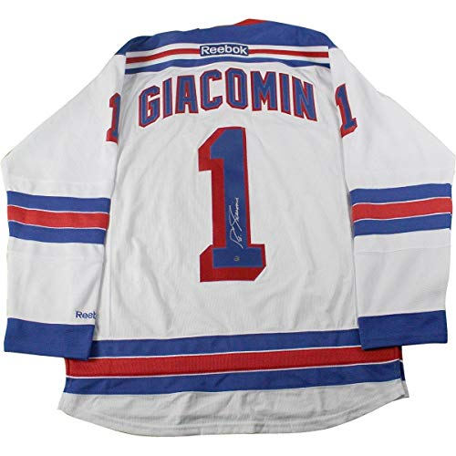 - Eddie Giacomin Signed New York Rangers White Jersey - Steiner Sports Certified - Autographed NHL Jerseys